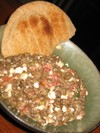 Chilled_lentil_feta_salad_with_pita_brea